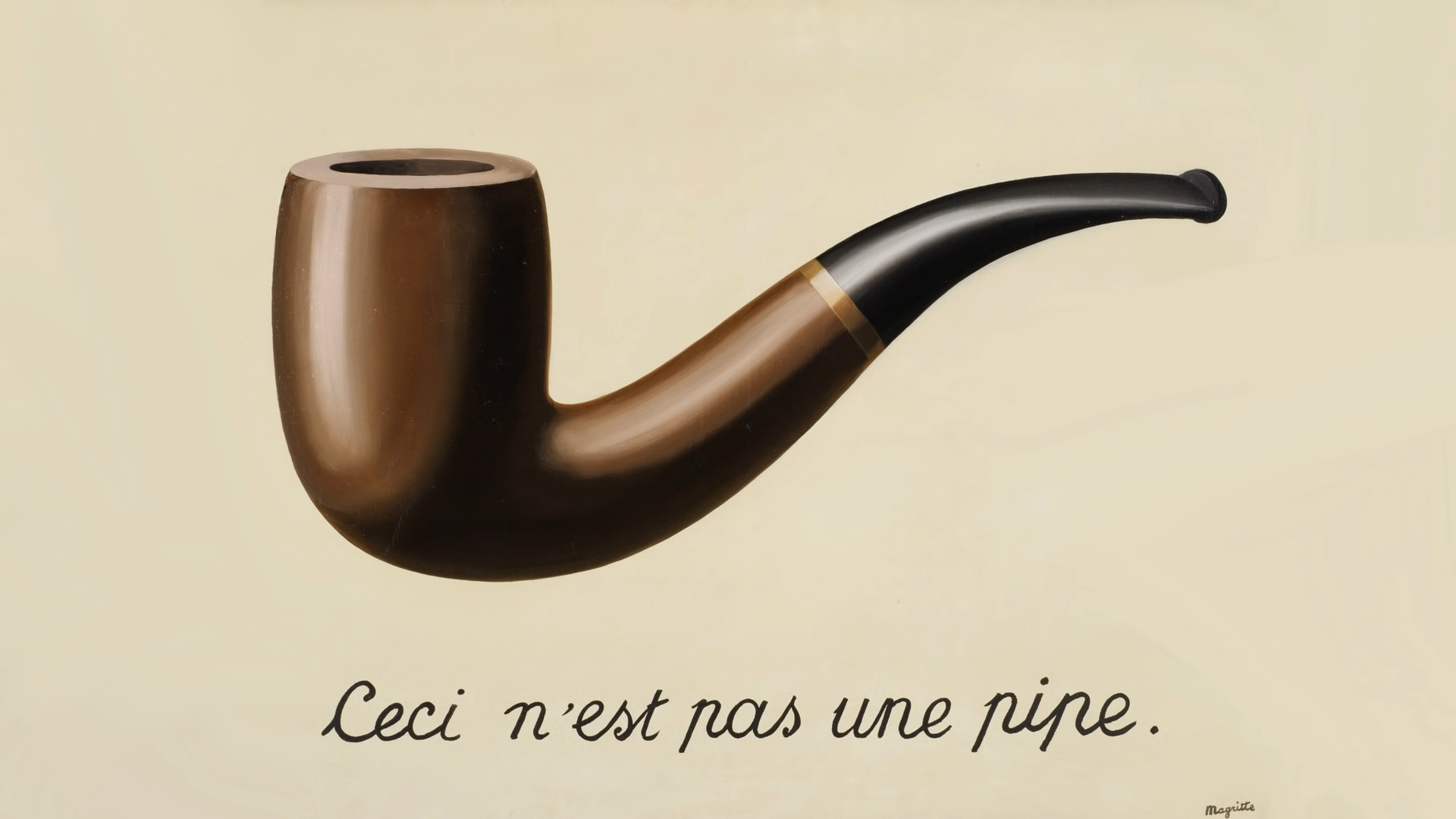 The Treachery of Images by Magritte